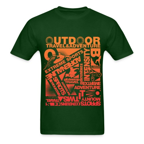 Men's T-Shirt - Every outdoor activity you could think of is on here to represent the vast amount of things you can do outdoors.