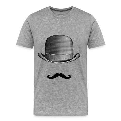 Men's Mustache and Hat T-Shirt - Men's Premium T-Shirt
