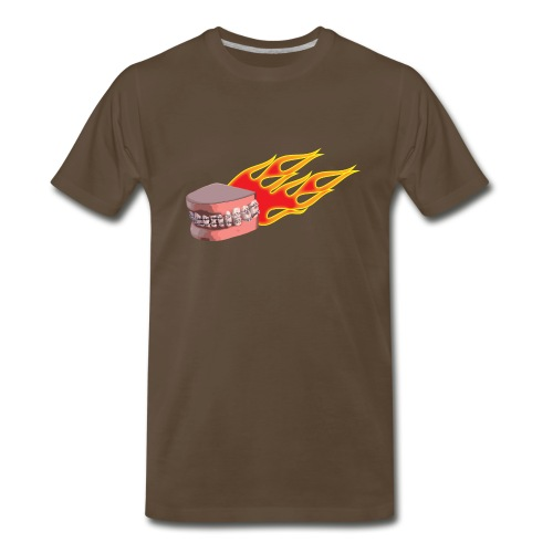 flaming braces - Men's Premium T-Shirt