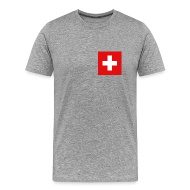 T-Shirts ~ Men's Premium T-Shirt ~ Switzerland Flag T-Shirt