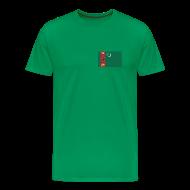 T-Shirts ~ Men's Premium T-Shirt ~ Turkmenistan Flag T-Shirt