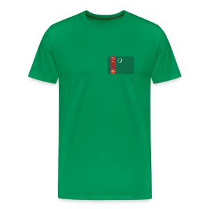 Turkmenistan Flag T-Shirt - Men's Premium T-Shirt