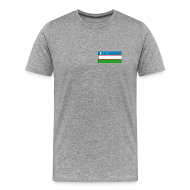 T-Shirts ~ Men's Premium T-Shirt ~ Uzbekistan Flag T-Shirt