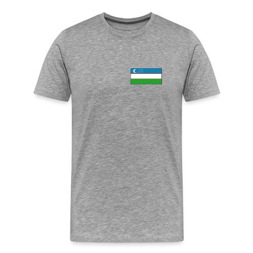 Uzbekistan Flag T-Shirt - Men's Premium T-Shirt