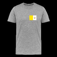 T-Shirts ~ Men's Premium T-Shirt ~ Vatican City Flag T-Shirt