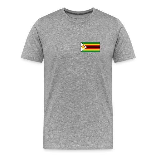 Zimbabwe Flag T-Shirt - Men's Premium T-Shirt