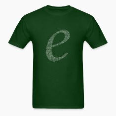 Numbers in decimals: Natural Constant e T-Shirts
