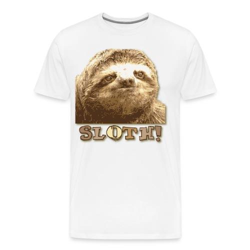 Sloth White Shirt - Men's Premium T-Shirt
