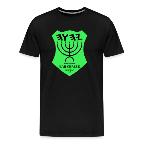 Natsarim - Rak Chazak - Men's Premium T-Shirt