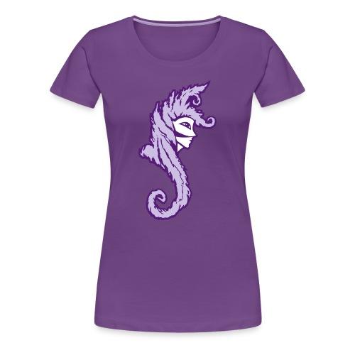 Okami (Purple/Lavender) Women's Fitted Classic T-Shirt - Women's Premium T-Shirt