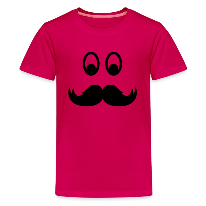 smiley mustache kids 39 shirts kids 39 premium t shirt. Black Bedroom Furniture Sets. Home Design Ideas