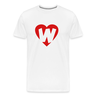 I love W - Heart W T-Shirts