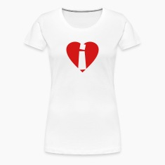 I love i T-Shirt - Heart i - Heart with letter i