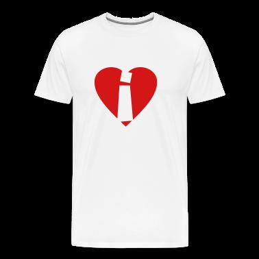 I love i T-Shirt - Heart i - Heart with letter i