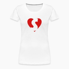 I love S T-Shirt - Heart S - Heart with letter S
