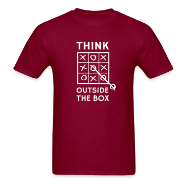 Think outside the box tic tac toe T-Shirts