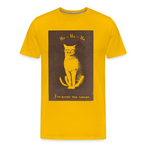 Hahaha - I've eaten the canary - Men's Premium T-Shirt