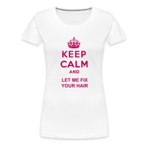 KEEP CALM Women's Fitted Classic T Shirt - Women's Premium T-Shirt