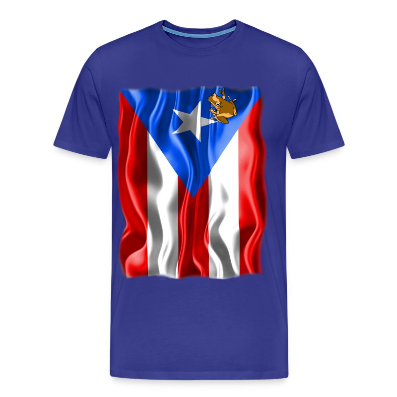A Little Piece of Puerto Rico (Plus Size) - Men's Premium T-Shirt