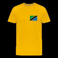 T-Shirts ~ Men's Premium T-Shirt ~ Tanzania Flag T-Shirt