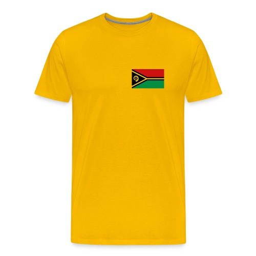 Vanuatu Flag T-Shirt - Men's Premium T-Shirt