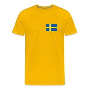 Sweden Flag T-Shirt - Men's Premium T-Shirt