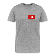 T-Shirts ~ Men's Premium T-Shirt ~ Tunisia Flag T-Shirt