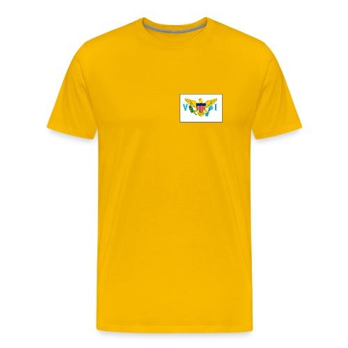 US Virgin Is. Flag T-Shirt - Men's Premium T-Shirt