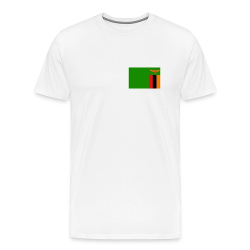 Zambia Flag T-Shirt - Men's Premium T-Shirt