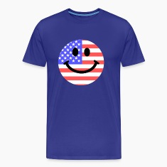 American flag smiley face T-Shirts