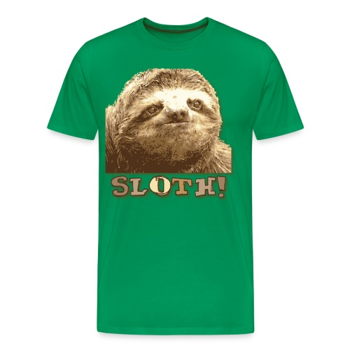 Sloth Green T- Shirt - Men's Premium T-Shirt