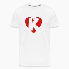 I love K T-Shirt - Heart K - Heart with letter K