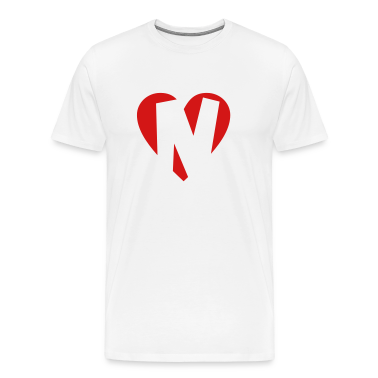 I love N T-Shirt - Heart N - Heart with letter N