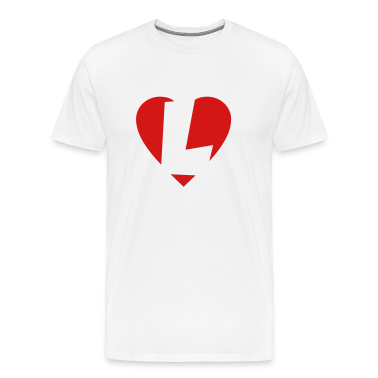 I love L T-Shirt - Heart L - Heart with letter L