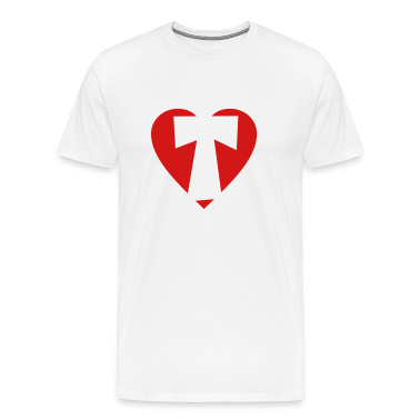 I love T T-Shirt - Heart T - Heart with letter T