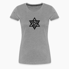TRISKELE: Yin power symbol, vector, Merkaba, Energy Symbol, Protection Force Women's T-Shirts
