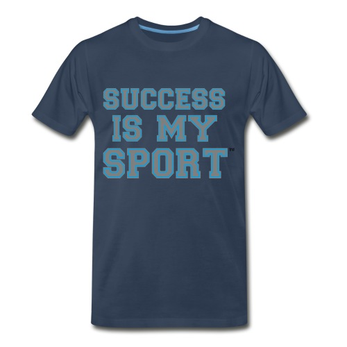 Success Is My Sport blue - Men's Premium T-Shirt