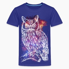 Cosmic Owl Kids' Shirts