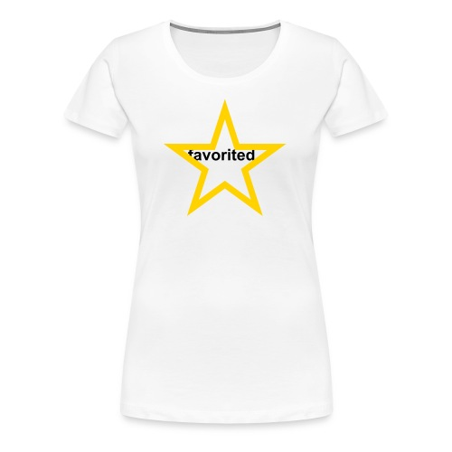 FAVORITED BY  - Women's Premium T-Shirt