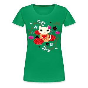 Kimono Cat - Women's Premium T-Shirt