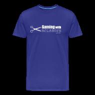 T-Shirts ~ Men's Premium T-Shirt ~ Gaming With Scissors