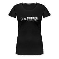 T-Shirts ~ Women's Premium T-Shirt ~ Gaming With Scissors Women
