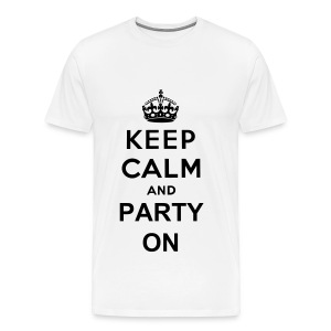 Keep Calm And Party On - Men's Premium T-Shirt