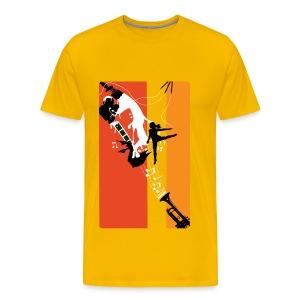 Painted Arts Orange and Red - Men's Premium T-Shirt