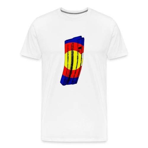 3XL/4XL 30 Round shirt with border for alternate colors - Men's Premium T-Shirt