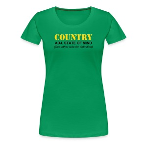 What is Country John Deere Green Inspired Women's T-Shirt - Women's Premium T-Shirt
