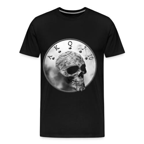 MoneySkull Men's Poker T-shirt - Men's Premium T-Shirt