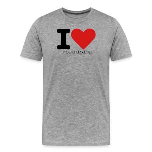 Move | I heart MoveRising top - Men's Premium T-Shirt