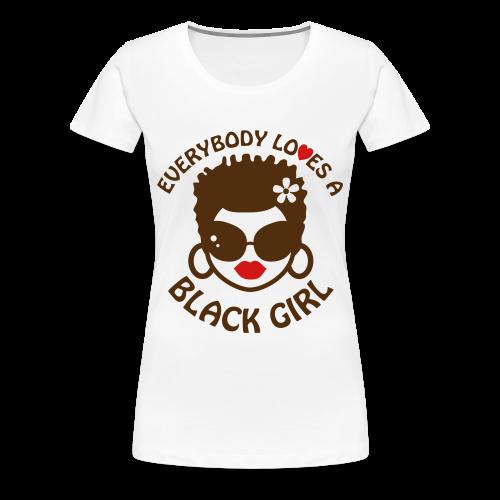 Everyone Loves a Black Girl Womens T-Shirt with Short 'locks (Version 2) Plus Size - Women's Premium T-Shirt