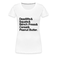 T-Shirts ~ Women's Premium T-Shirt ~ Deadlifts&Squats